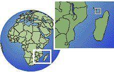 Mayotte carte de localisation de fuseau horaire frontières