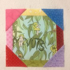 Splendid Sampler Block 20 Nature's Walk @vickivict My block is a tribute to the Australian State and Territory Floral Emblems today being Anzac Day. My centre fabric is from the books of May Gibbis about the adventures of Snugglepot and Cuddlepie two little Gumnut babies. The colours around these sweet babies represent the blue of the ACT Royal Bluebell reds of the NSW Warratah and SA Desert Pea pinks of the NT Sturt's Desert Pea and Vic Pink Common Heath green of the WA Red/Green Kangaroo…