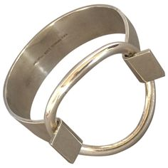 "Hans Hansen Modernist Cuff ""Ring"" Bracelet designed by Bent Gabrielsen"