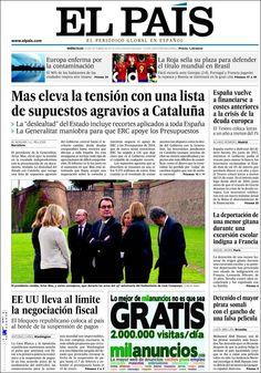 Los Titulares y Portadas de Noticias Destacadas Españolas del 16 de Octubre de 2013 del Diario El País ¿Que le pareció esta Portada de este Diario Español?