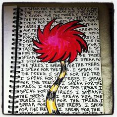 Truffula Tree Sharpie art by Amy Bowerman of Pluckingdaisies.com @PluckingDaisy #theLorax #sharpie