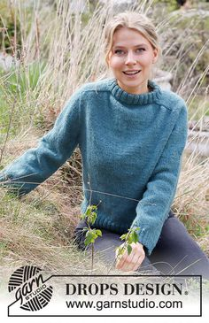 Drops Design, Sweater Knitting Patterns, Knit Patterns, Free Knitting, Magazine Drops, Labor, Crochet Diagram, Knit Picks, Work Tops