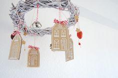 Tutorial Corona de navidad colgante. How to make a pendant Christmas wreath