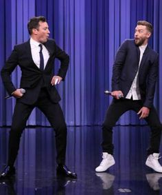 Watch The Tonight Show host Jimmy Fallon and singer Justin Timberlake perform hip hop songs in the new History of Rap 6 medley from the September 2015 show. Lip Sync Battle, Saturday Night Live, Jimmy Fallon Justin Timberlake, Jimmy Fallon Ew, James Fallon, Justin Bieber, Poses Pour Photoshoot, Rap History, Justin Love