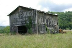 Old Barn - They used to paint on the sides of barns in order to advertise the sale of tobacco.