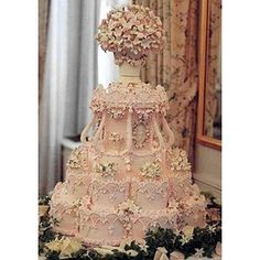 """Pink Wedding Cakes Amazing """"ice pink"""" wedding cake by the renowned Cile Bellefleur Burbidge -- so intricate! Too pretty to eat - My gorgeous """"ice pink"""" wedding cake by the renowned Cile Bellefleur Burbidge; Beautiful Wedding Cakes, Gorgeous Cakes, Pretty Cakes, Cute Cakes, Amazing Cakes, Fancy Cakes, Crazy Cakes, Victorian Wedding Themes, Baroque Wedding"""