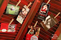 attach your Christmas cards to old shutters!