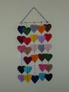 Felt hearts - Rhiannon crafts