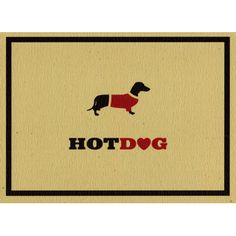 Hot Dog Dachshund Greetings Card http://www.onebrowncow.co.uk/cards-by-occasion/blank-cards/hot-dog-dachshund-greetings-card/prod_5218.html
