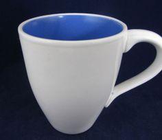a104ac7b8317 222 Fifth Aurora Dinnerware Blue White Coffee Mug 5th 5 TH Cup