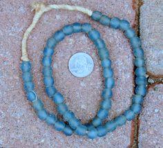 Ghana Glass Beads: Light Blue 8x9mm by AfroBeadia on Etsy