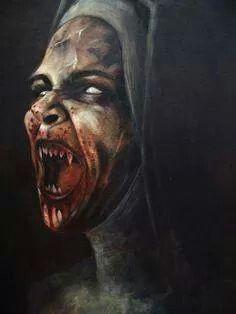 . Female Vampire, Vampire Art, Vampire Pics, Dark Fantasy, Fantasy Art, Mago Tattoo, Portraits Illustrés, Totenkopf Tattoos, Dark Artwork