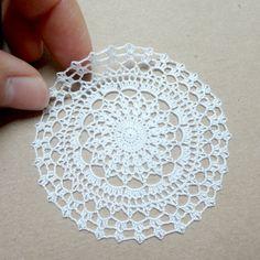 Miniature crochet round doily 6.5 cm by MiniGio