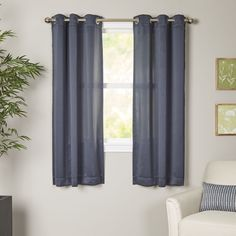 Goodman Grommet Single Curtain Panel