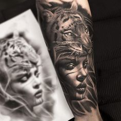 Realistic Tattoo by Mumia