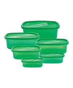Loving this Green 40-Piece Storage Container Set on #zulily! #zulilyfinds