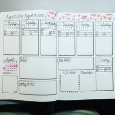 Next week's weekly spread. New washi tape arrived for my spread. Love it…
