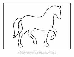 Horse outline for applique