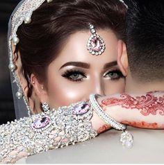 nice 70 Beautiful Ideas for Asian Bridal Makeup Looks Pakistani Bridal Makeup, Asian Bridal Makeup, Bridal Makeup Looks, Pakistani Bridal Dresses, Bridal Looks, Indian Bridal, Pakistani Gharara, Desi Bride, Desi Wedding