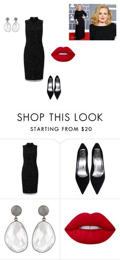 Untitled #10 by beata-apanasewicz on Polyvore featuring Adrianna Papell, Lime Crime and Giorgio Armani