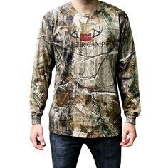 Deer Camp Long Sleeve Shirt - Camo