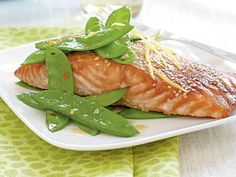 Salmon with Hoisin Glaze | This flavorful sauce made from soybeans, sugar, garlic, chiles, and Chinese five-spice powder, delivers sweet flavor to seafood, chicken, stir-fries, vegetables, and more. However, after a tablespoon or two, most containers of this thick red sauce generally sit patiently on a refrigerator shelf. We have easy weeknight ideas that use the rest of the jar.