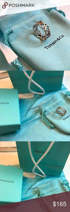 Tiffany & Co. loving heart band ring Tiffany ring part of the Paloma Picasso collection. Brand new in perfect condition. Authentic. size 6. comes with box it came in and receipt. Very beautiful and stunning. Please ask any questions you may have:) Tiffany & Co. Jewelry Rings