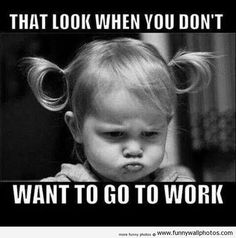 "101 Funny Good Morning Memes - ""That look when you don't want to go to work."" Humor 101 Good Morning Memes For Him & Her Are Perfect with Coffee Funny Images, Funny Pictures, Friday Pictures, Work Pictures, Funny Pics, Funny Stuff, Work Quotes, Success Quotes, Work Humor"