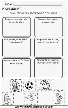 ATIVIDADES COM RIMAS | Cantinho do Educador Infantil