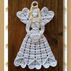 Angel Heart Crinoline - Free Crochet Pattern by Featured at Crochet Memories - Sponsor Spotlight Round Up via Crochet Angel Pattern, Crochet Angels, Crochet Motif, Crochet Doilies, Crochet Flowers, Free Crochet, Crochet Coaster, Crochet Hook Sizes, Thread Crochet