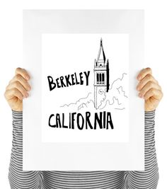Berkeley California travel printable poster by MyDaisyDownloads