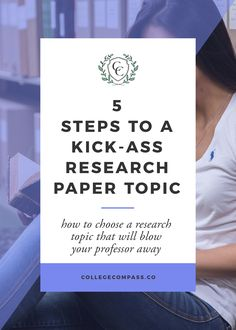 SO HELPFUL. Love this guide for choosing a research paper topic - definitely saving for later! via @collegecompassc