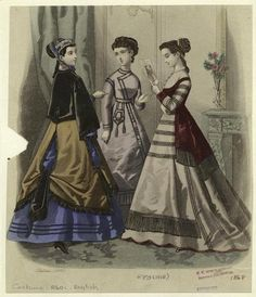 Fashion plate, 1868 England, source missing They're looking at a fashion plate…IN A FASHION PLATE. Little do they know…