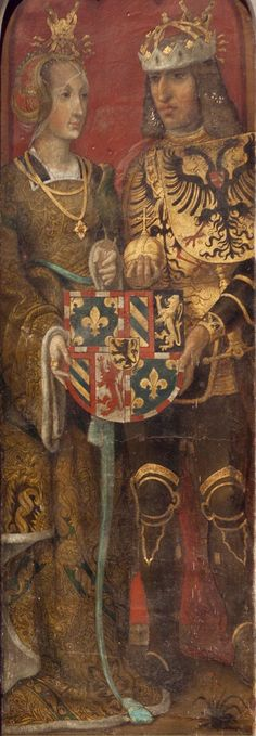the Rich and Maximilian of Austria,Dukes of Burgundy,and Brabant,Counts of Holland,Hainault and Flanders. Spanish Netherlands, Maximilian I, Holy Roman Empire, Roman Emperor, Medieval Art, North Africa, Coat Of Arms, 16th Century, African Art