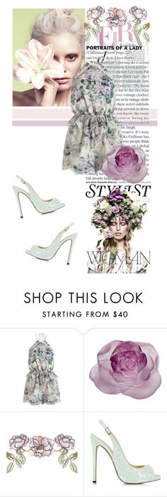 """""""A Day Out With Floral"""" by alex-begg ❤ liked on Polyvore featuring KAROLINA, Zimmermann, Daum, Universal Lighting and Decor and Philipp Plein"""