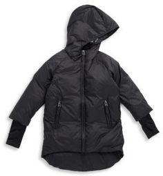 edab0a5400f NUNUNU Toddler s  amp  Little Boy s Down Hooded Jacket Boys Leather Jacket