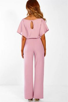 dcb477ded15a Short sleeve round neck long jumpsuit-Black. Formal JumpsuitPink  JumpsuitJumpsuit OutfitLong JumpsuitsJumpsuits For WomenCute Party OutfitsCulture  ...