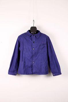 1950's blue moleskin work jacket, moleskin, le pigeon voyageur,workwear