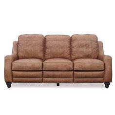 Barcalounger Abigail Vintage Power Leather Sofa $2650