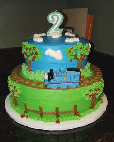 Birthday cake idea for Noah.    I think I could do this!  Takes the Cake!: THOMAS the TRAIN