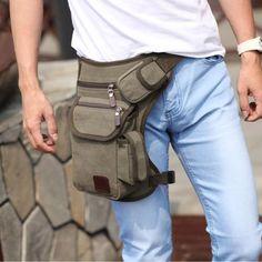 Tactical Military Drop Leg Bag Thigh Panel Utility Waist Belt Pouch Bag Outdoor