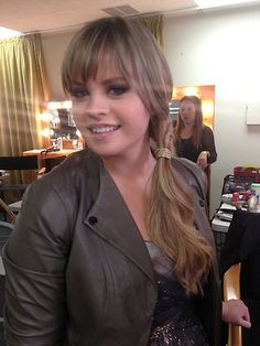 Holly Hanging out before the show with Make-up and Hair  #VoiceUnlimited