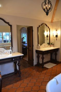 Spanish colonial Style bathroom | Unique Interiors, Classic Style