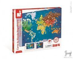 Duże puzzle magnetyczne ZWIERZĘTA ŚWIATA w Pełna oferta Dookoła świata Pikinini-More than toys, zabawki ekologiczne, gotowanie z dziećmi, Pippi, Muminki, zabawki, ogrodnictwo, książki
