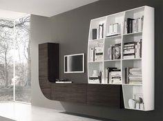 Modern Wall Unit Velvet Millenium 941 by Artigian Mobili Italy - $2,799.00