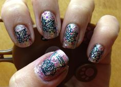 Nail Stamping.  Holiday stamping with Bunny Nails HD plates found here: http://bunnynails.ecrater.com/