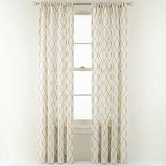 JC Penny Curtains  Martha Window Diamond Rod Pocket