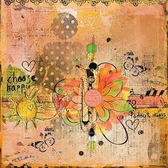I choose happy....Pretty color combination.