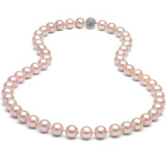 12mm South Sea Shell Pink Pearl Bridal Necklace 16in 18in