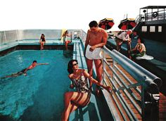 Detail from 1961 Delta Line Cruises Advertisement